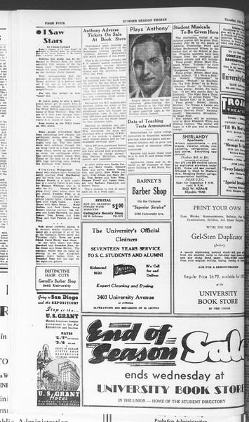 Summer Session Trojan, Vol. 15, No. 11, July 28, 1936