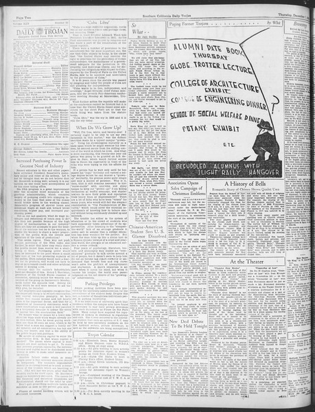 Daily Trojan, Vol. 25, No. 52, December 07, 1933