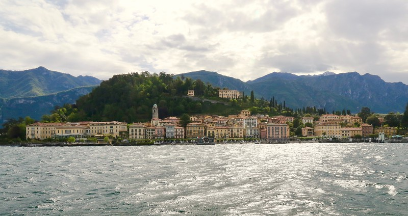 View from the ferry as we approach Bellagio - Lake Como
