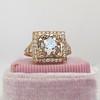 4.03ct Light Fancy Brown Antique Cushion Cut Diamond Halo Ring GIA LFB, SI1 3