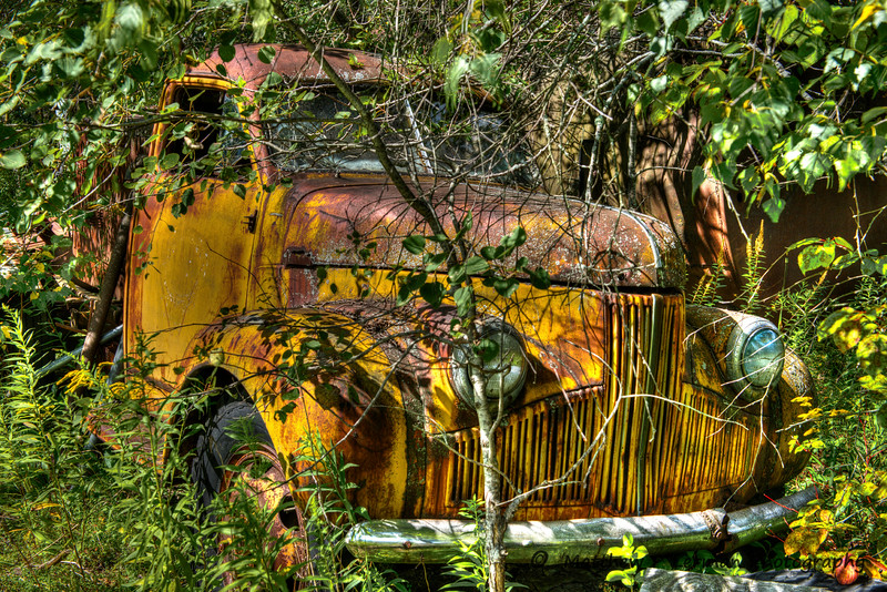 Vintage Yellow Rusty Truck  in Berlin, NY  #744