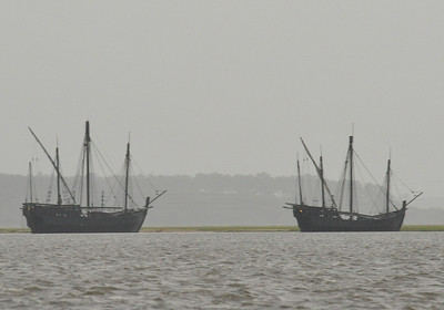 The Nina and the Pinta in Georgia Waters 05-20-09