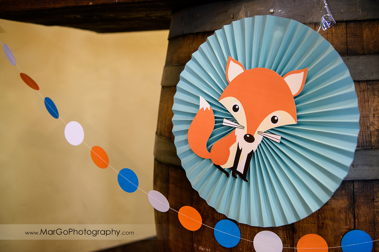 baby shower fox table decor, Windmill Ridge Winery