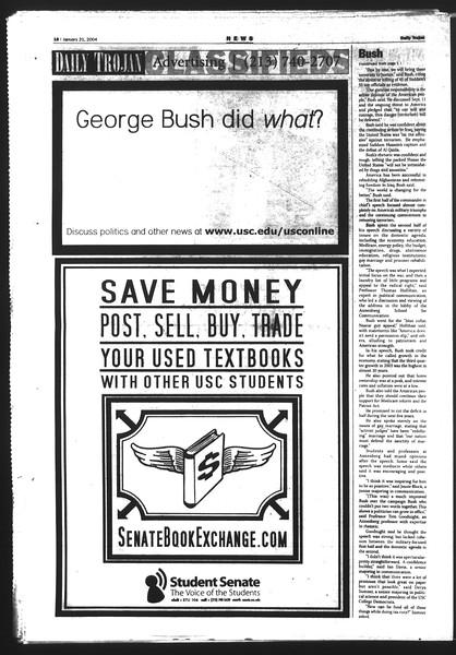 Daily Trojan, Vol. 151, No. 5, January 21, 2004