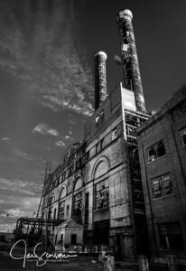 Market Street Power Stations in B&W 01-17-2015