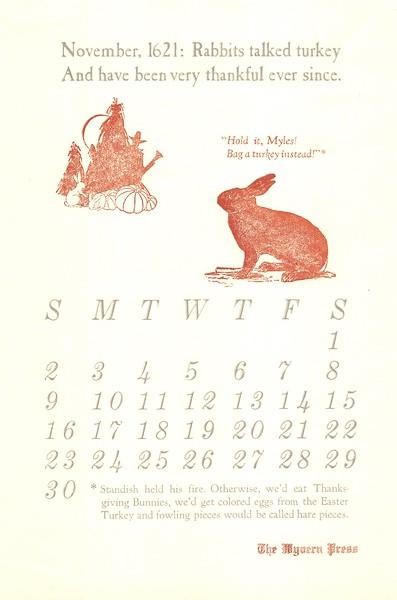November, 1979, Wyvern Press