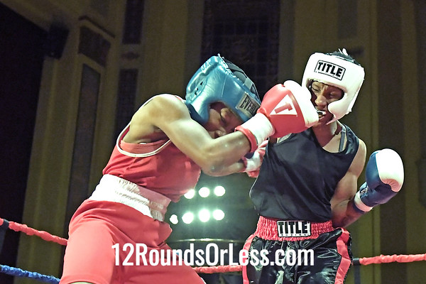 Bout 9 Asia Smith, Red Gloves, Raul Torres BC, Cleveland -vs- Crashonna Wynn, Blue Gloves, Against the Ropes BC, Cleveland, 126 Lbs, Female, Grudge Match Championship