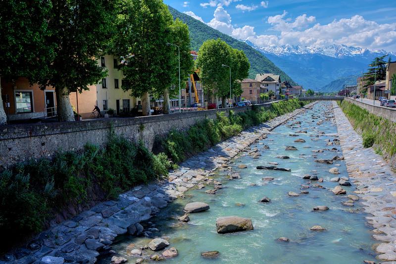 Fiume Adda in Tirano Italy