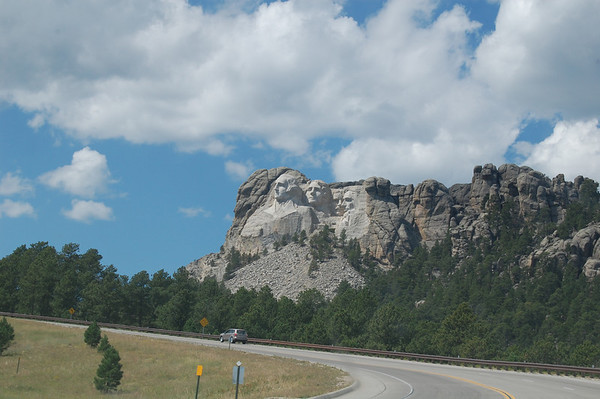Mt Rushmore and Crazy Horse