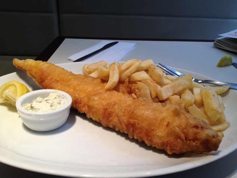 Day 3 - Wonderful fish & chips at Leicester Square