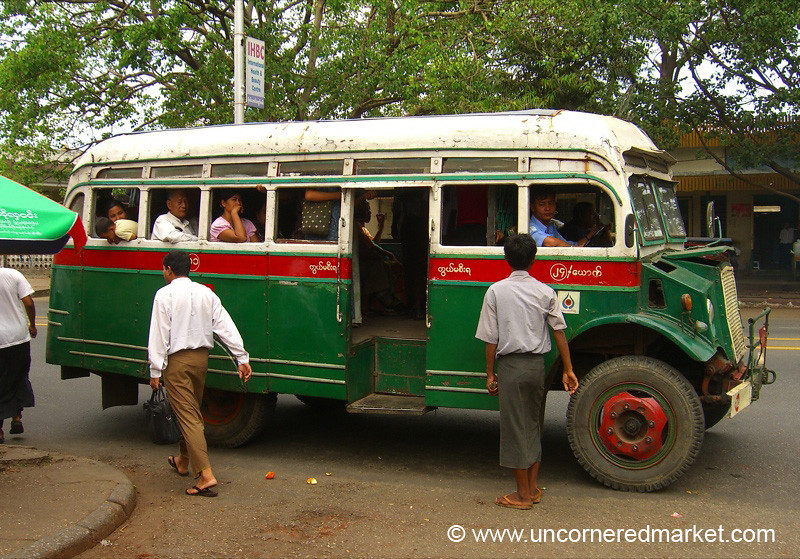 Local Bus Transport - Rangoon, Burma (Yangon, Myanmar)