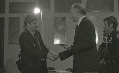 Mayor Hudnut Presents IPD Awards at City-County Council Chamber, Circa 1977, Img. 15