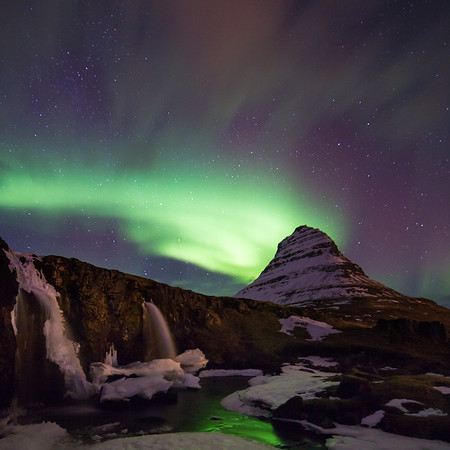 Iceland - Winter Waterfalls & Northern Lights