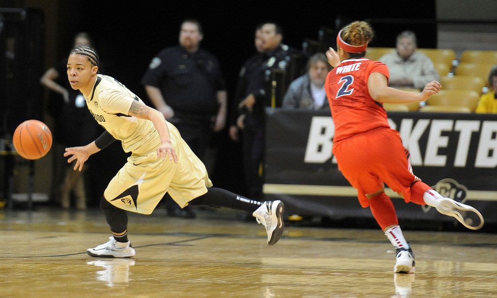 . Chucky Jeffery gets a rebound during the first half of the January 20th, 2013 game in Boulder. Cliff Grassmick/The Daily Camera