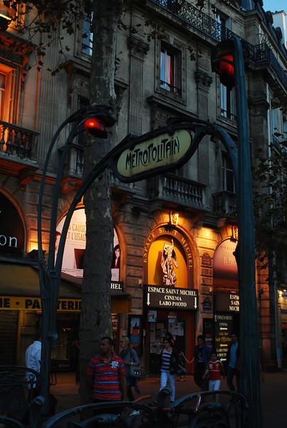 Blvd St Michel, Latin Quarter, Saturday night.
