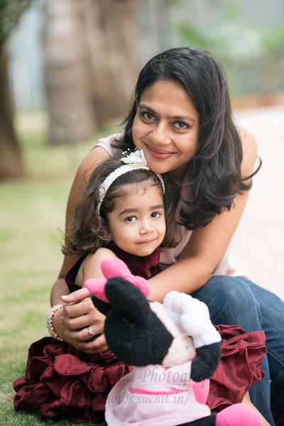 Piyush, Nimisha and Anaika Seth photoshoot at their home in Bengaluru.