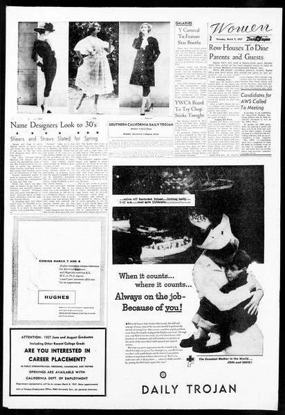 Daily Trojan, Vol. 48, No. 88, March 07, 1957