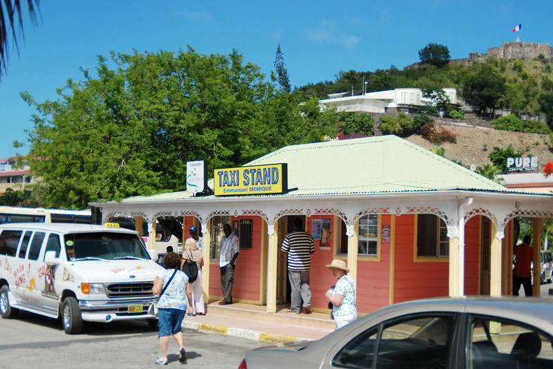 Taxi stand on the French side of St. Maarten
