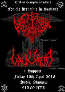 VALKYRJA - Audio, Glasgow  15/4 2016