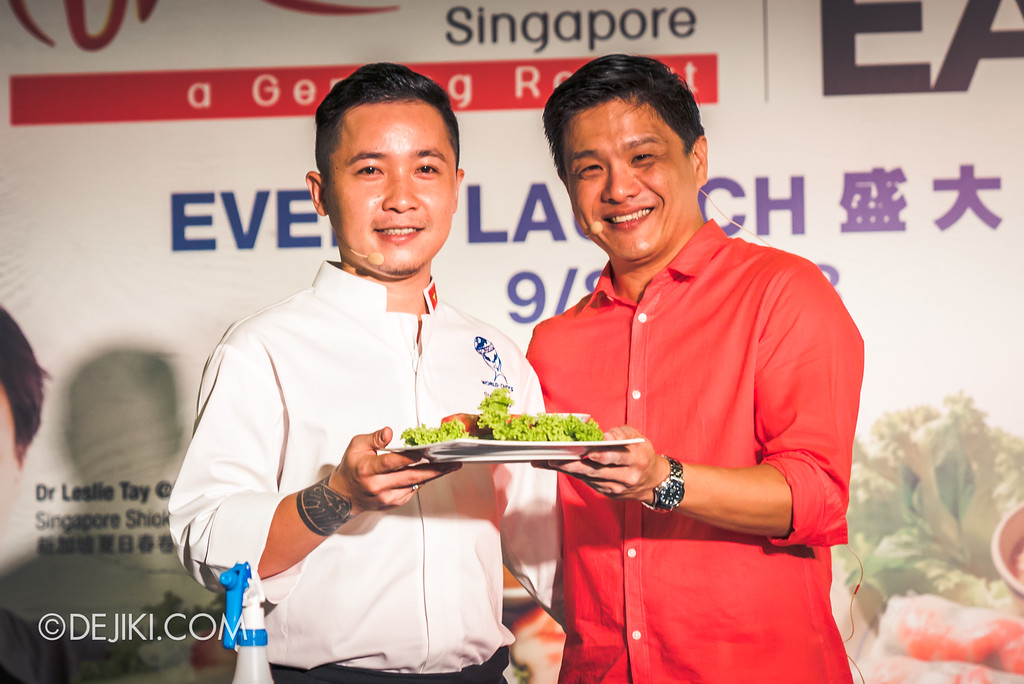 RWS Street Eats 2018 - Chef Steven Long and Dr Leslie Tay