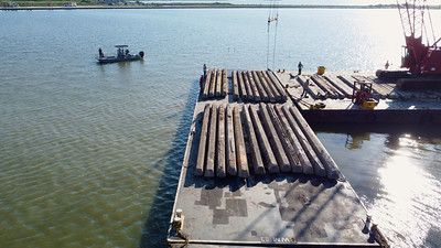 071921 HRI Partnership Builds New Recycled Reef to Protect Goose Island State Park