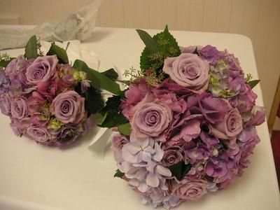 Lavender hydrangea, lav roses- $125