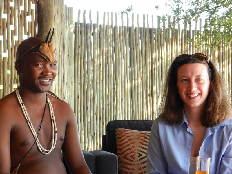 31 - Bushman and Leslie - Kalahari - Anne Davis