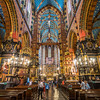 Beautiful Gothic Interior of St Mary's Basilica, Kraków