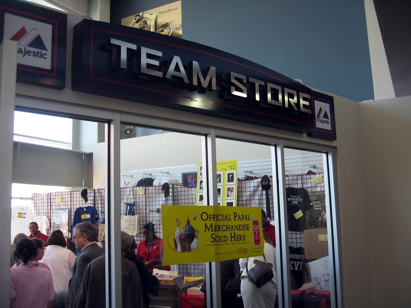 Official Papal Merchandise takes over the Nationals' team stores