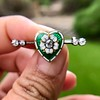 .45ctw Victorian Heart Diamond and Enamel Pin 19