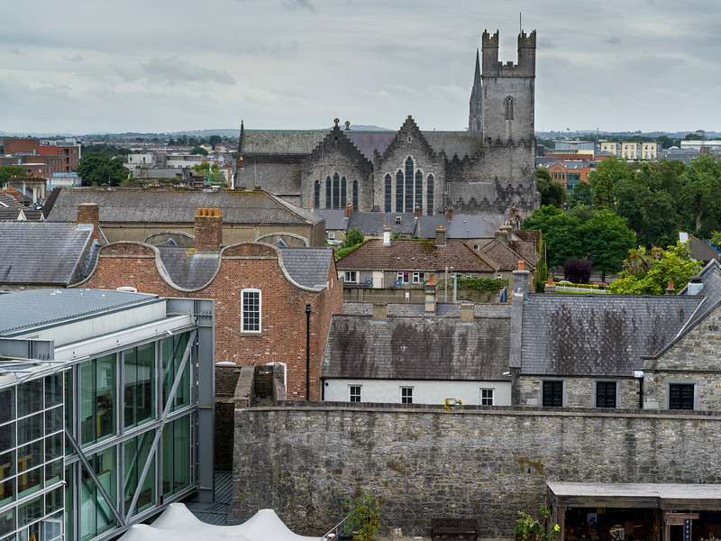 Overview of a city, Kings Island, Limerick, County Limerick, Ireland