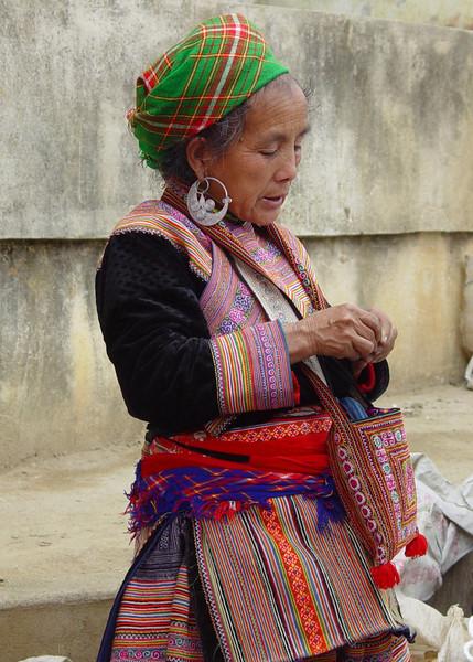 HILLTRIBE LADY - BAC HA, VIETNAM