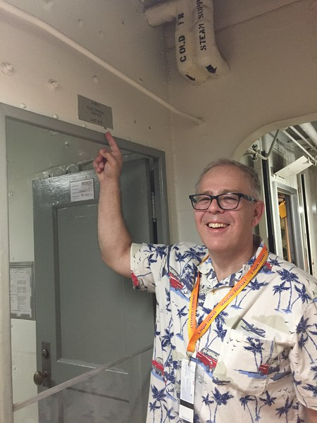 John found the electrical office inside the USS Missouri - 11/11/2018