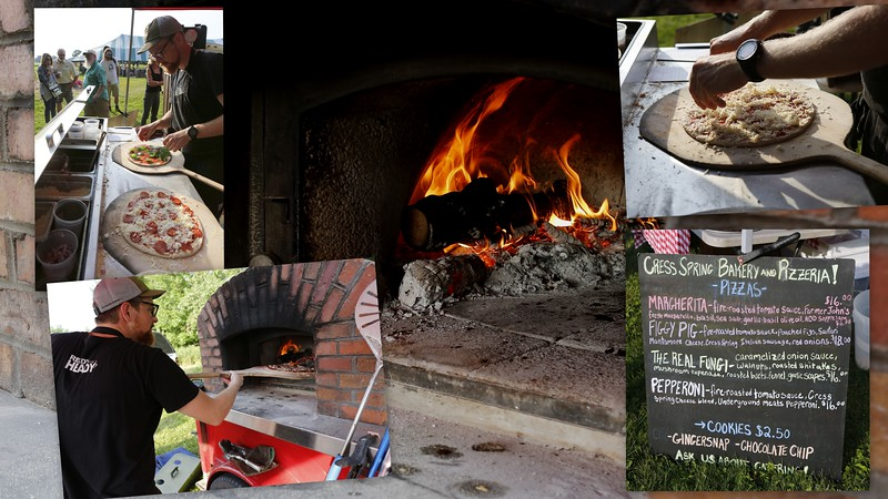 Wood fire Pizzas at the Cress Spring bakery and Pizzeria