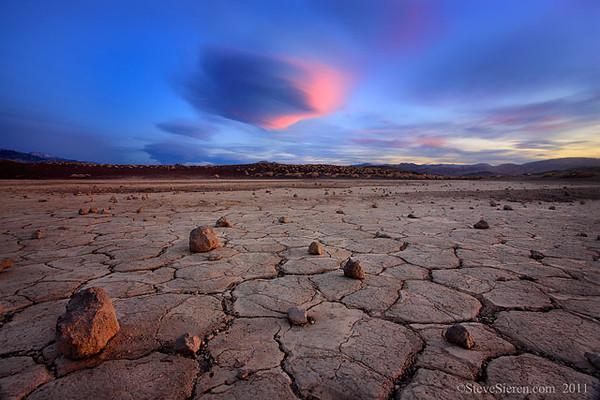 UFO Landing Volcanic Playa, Mojave Desert