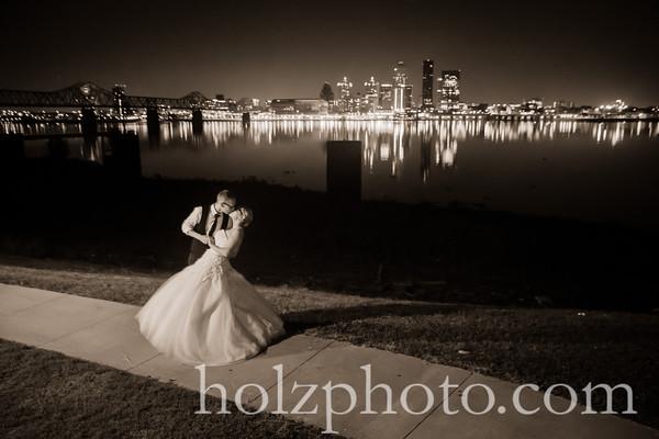 Ashley & Luke Creative Wedding Photos