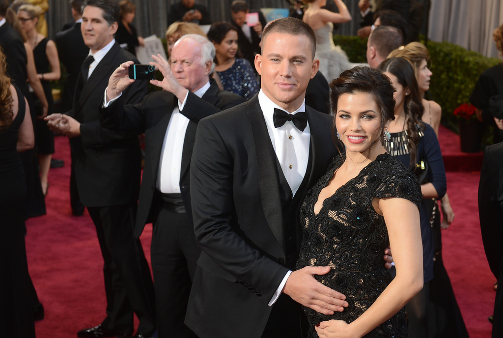 . Channing Tatum and Jenna Dewan arrives at the 85th Academy Awards at the Dolby Theatre in Los Angeles, California on Sunday Feb. 24, 2013 ( Hans Gutknecht, staff photographer)