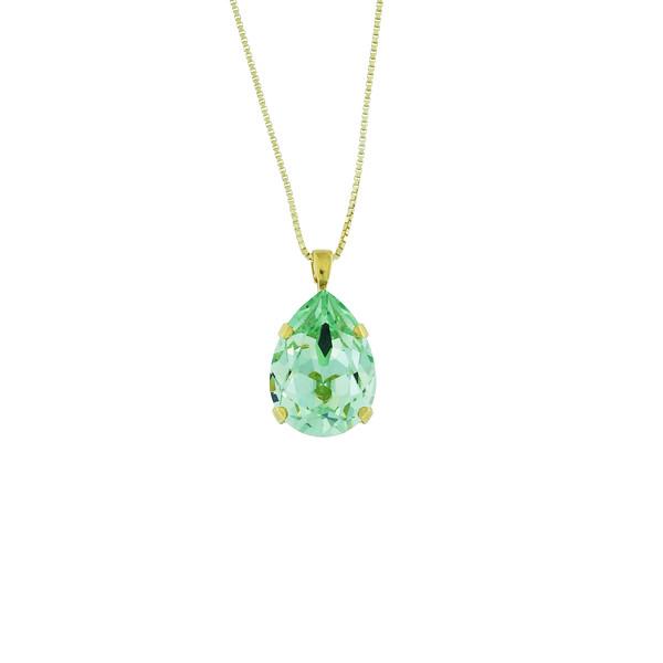 Classic Drop Necklace / Chrysolite