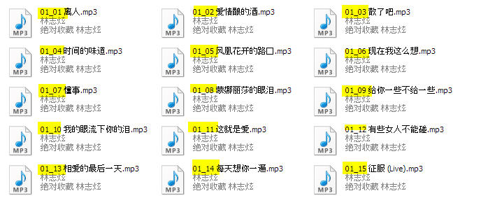 Properly Labelled Multi CD MP3 files