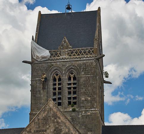 Sainte-Mere-Eglise, Normandy, France - D-Day 75 - June 6, 2019