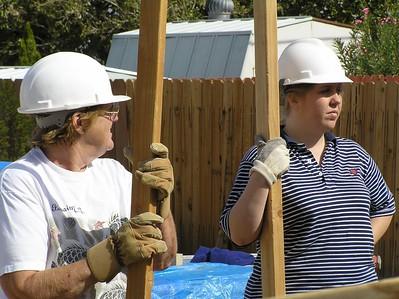 Women Build Post-Wall Raising
