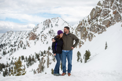 Mike and Anna   Wintery bliss at Snowbasin