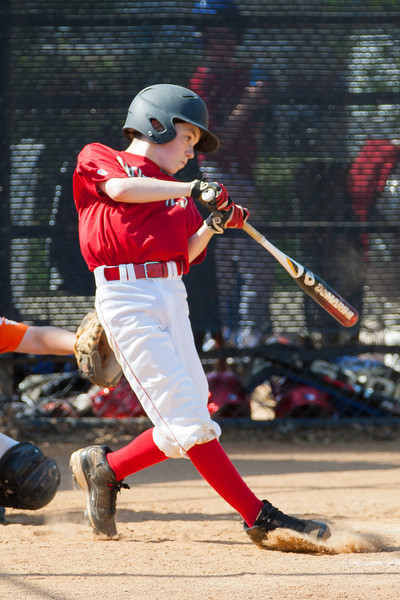 Mac hits a 2-RBI double in the bottom of the 3rd inning. Nats trail 2-4. The Nationals struggled on both offense and defense in a 2-11 loss to the Orioles. They are now 7-4 for the season. 2012 Arlington Little League Baseball, Majors Division. Nationals vs Orioles (19 May 2012) (Image taken by Patrick R. Kane on 19 May 2012 with Canon EOS-1D Mark III at ISO 400, f4.0, 1/1250 sec and 235mm)