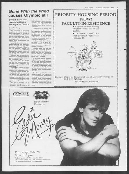Daily Trojan, Vol. 95, No. 21, February 07, 1984