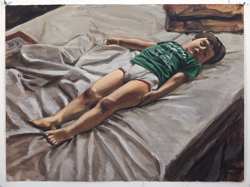 Sleeping Child; acrylic on paper, 22 x 30 in, 1993