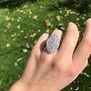 2.65ctw (est) Old Mine Cut Cobblestone Ring, French 42