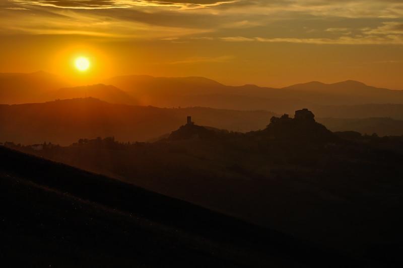 Rossena Castle at sunset - Canossa, Reggio Emilia, Italy - October 10, 2011