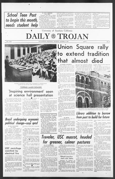 Daily Trojan, Vol. 58, No. 14, October 06, 1966