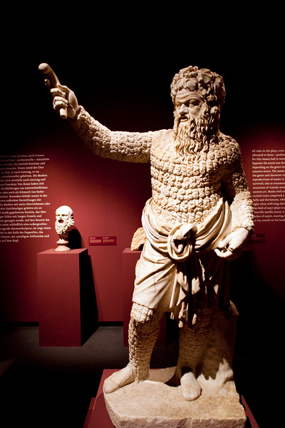 Actor dressed as Papposilenus, 2nd century AD, Pergamon Museum, Berlin, Germany