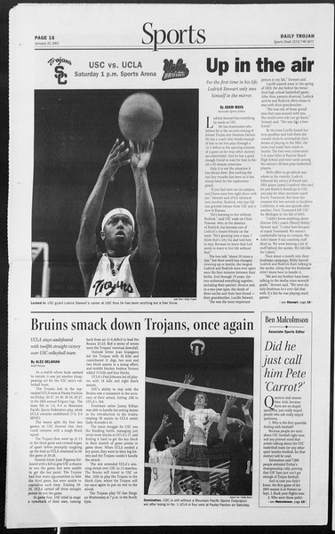 Daily Trojan, Vol. 154, No. 9, January 25, 2005